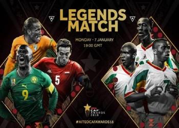 بمشاركة أبوتريكة.. تفاصيل مباراة نجوم أفريقيا وأساطير السنغال