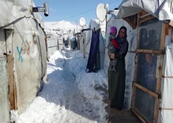 عواصف وأمطار وثلوج تدمر خيام اللاجئين السوريين في لبنان