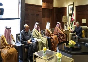 ملك الأردن يستقبل وزراء خارجية دول الحصار والكويت