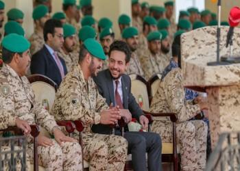 ولي عهد الأردن يحضر تمرينا عسكريا بالبحرين