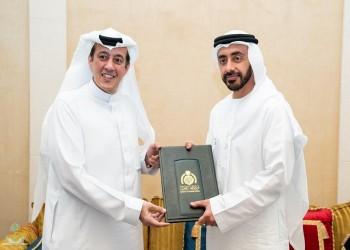 بن زايد يتسلم أوراق اعتماد الدخيل سفيرا للسعودية بالإمارات
