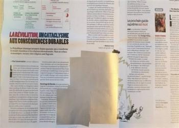محو كاريكاتير مسيء لخامنئي بمجلة فرنسية بعد دخولها لبنان