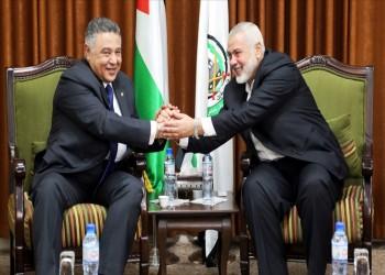 وفد من المخابرات المصرية يلتقي هنية في غزة