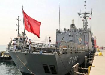 فرقاطة تركية تصل قاعدة بورتسودان البحرية