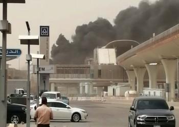 فيديو.. حريق هائل بمحطة مترو في الرياض