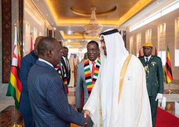بن زايد يبحث مع رئيس زيمبابوي تعزيز العلاقات الثنائية