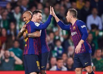 الدوري الإسباني.. برشلونة يثأر من بيتيس برباعية قاسية