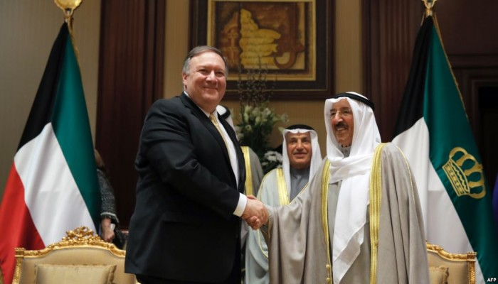 بومبيو يؤكد التزام الولايات المتحدة بأمن الكويت