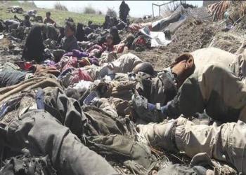 صور.. مجزرة في الباغوز بيد قوات قسد والتحالف الدولي