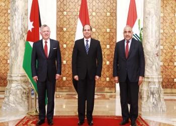بيان قمة مصر والعراق والأردن يشدد على مكافحة الإرهاب