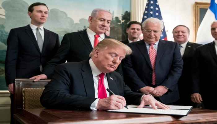 الإمارات تدين اعتراف أمريكا بسيادة إسرائيل على الجولان