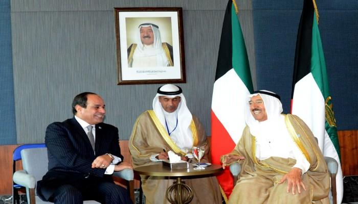 السيسي والصباح يبحثان العلاقات الثنائية وتطورات المنطقة