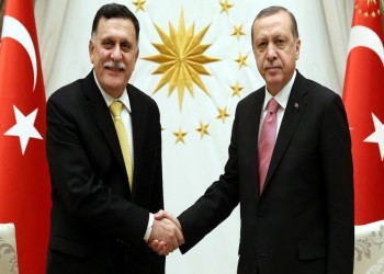 الأول بعد نصر غريان.. أردوغان يلتقي السراج في إسطنبول