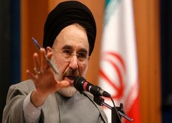 خاتمي يحذر من انهيار النظام الإيراني