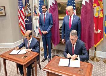 تفاصيل.. ترامب وتميم يكشفان عن اتفاقيات تجارية وعسكرية