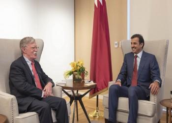 أمير قطر يستقبل مستشار الأمن القومي الأمريكي بمقر إقامته بواشنطن