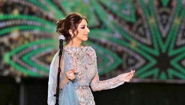 أنغام تغني باللهجة الخليجية في حفل الباحة بالسعودية