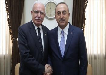 وزير خارجية تركيا يلتقي نظيره الفلسطيني بجدة