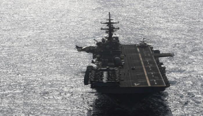 سفن برمائية أمريكية تجوب بحر العرب