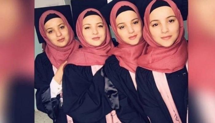 توائم حتى في التقدير.. 4 شقيقات فلسطينيات يتفوقن بالثانوية