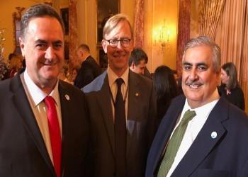 بالصور.. وزير خارجية البحرين يلتقي نظيره الإسرائيلي بواشنطن