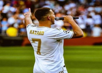 رسمياً.. هازارد يحصل على قميص الأساطير في ريال مدريد