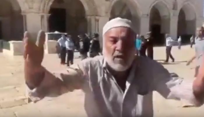 مسن فلسطيني: حسبنا الله في السعودية والإمارات والسيسي (فيديو)