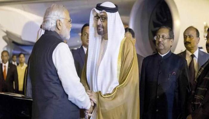 الإمارات تقلد رئيس وزراء الهند أرفع وسام مدني