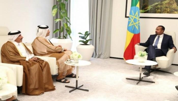 رئيس الوزراء الإثيوبي يستقبل وزير خارجية قطر