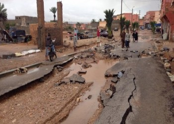 شاهد.. فيضانات تهاجم قرية مغربية فجأة وتقتل 7