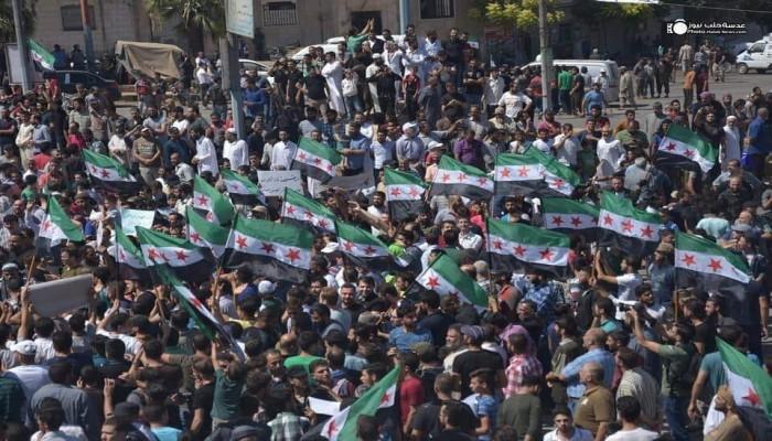 سوريا.. مظاهرات بإدلب ضد روسيا والأسد وتحرير الشام