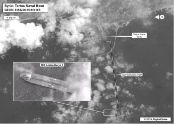 أقمار صناعية: ناقلة النفط الإيرانية قبالة ميناء طرطوس السوري