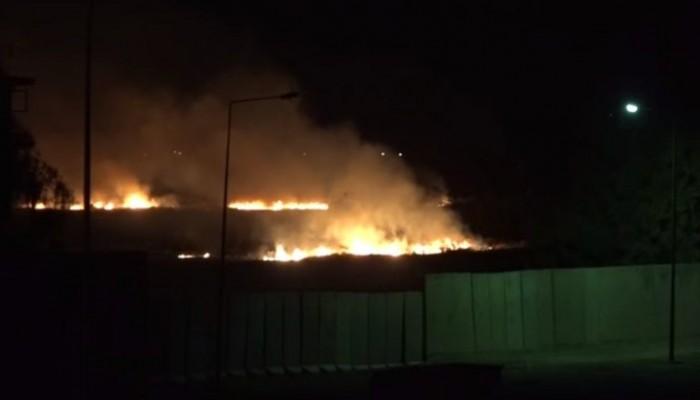 حريق بمخزن عتاد للحشد الشعبي غربي العراق