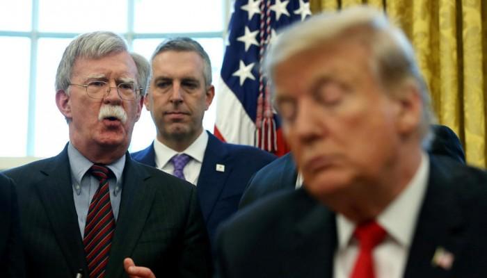 تقارير: ترامب كان يوبخ بولتون ويحذر الزعماء الأجانب من تشدده