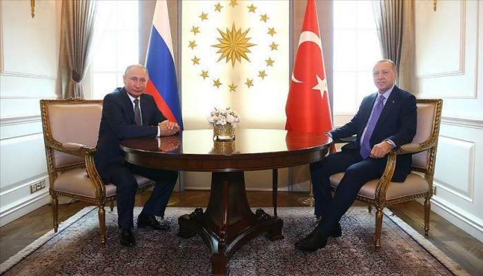 أردوغان يلتقي نظيره الروسي قبيل الاجتماع الثلاثي