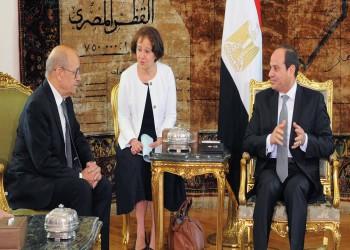 ليبيا وسوريا تتصدران مباحثات السيسي ووزير خارجية فرنسا