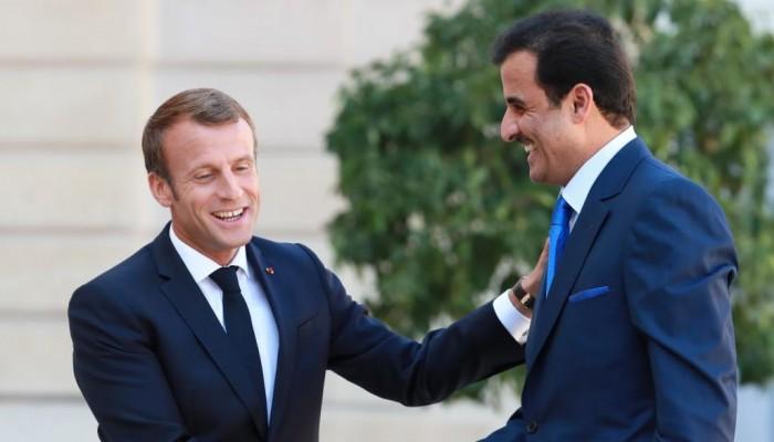 تميم وماكرون يبحثان العلاقات الثنائية وقضايا المنطقة