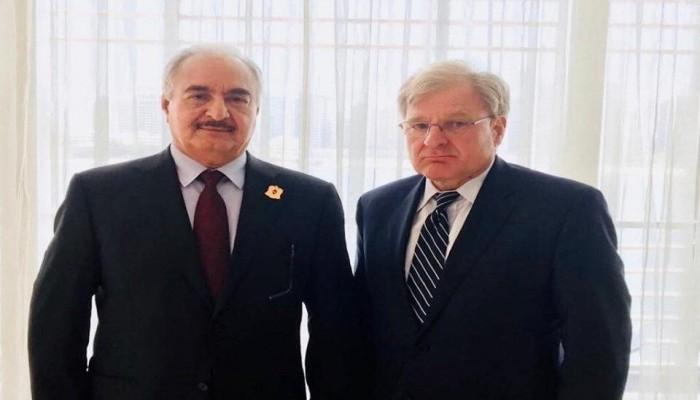 حفتر يلتقي سفير الولايات المتحدة لدى ليبيا في الإمارات