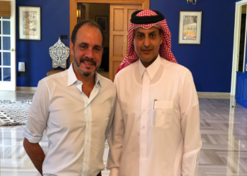 ترحيب أردني خاص بالسفير القطري الجديد (صورة)