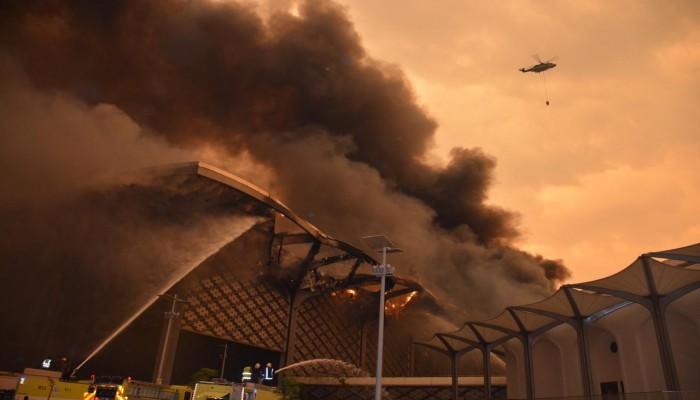 النيابة السعودية تنفي وجود شبهة فساد خلف حريق قطار الحرمين