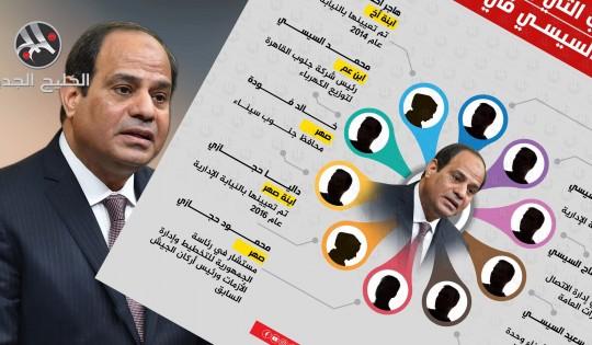المناصب التي يشغلها أفراد عائلة السيسي في مصر