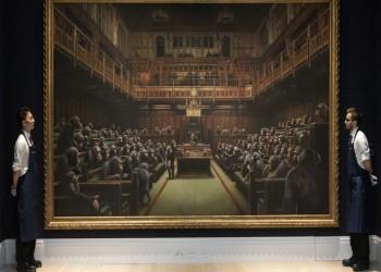 سعر خيالي للوحة القردة بمجلس العموم البريطاني