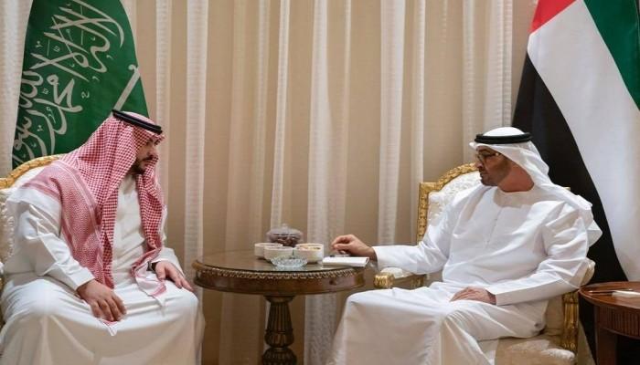 بن زايد يبحث مع خالد بن سلمان التعاون الدفاعي والعسكري