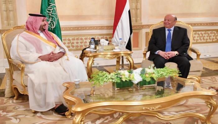تفاصيل اجتماع سري بين خالد بن سلمان والرئيس اليمني بالرياض