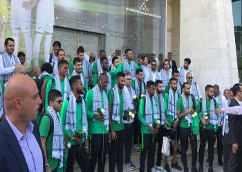 للمرة الأولى.. بعثة المنتخب السعودي لكرة القدم تصل إلى فلسطين