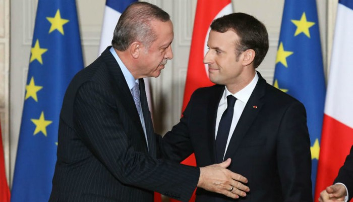 أردوغان يعرض على ماكرون رؤية وأهداف نبع السلام
