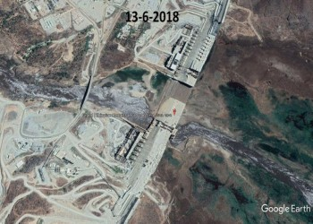 خرائط جوجل تكشف بدء إنشاء سد النهضة في عهد السيسي