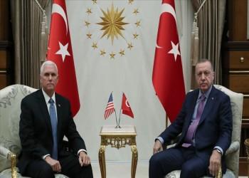 أردوغان يلتقي نائب ترامب في أنقرة وسط استمرار التوتر