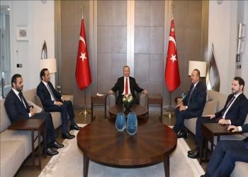 انتهاء اجتماع أردوغان ووزير خارجية قطر في إسطنبول