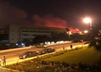 حريق في مبنى دار الأوبرا القديم بالعاصمة اللبنانية